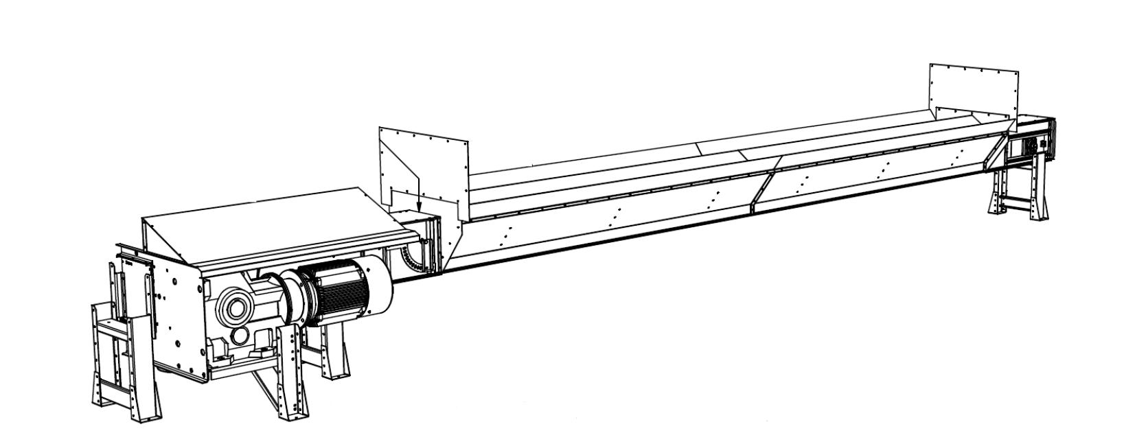 Transportoare cu lanţ pentru cuvă de primire