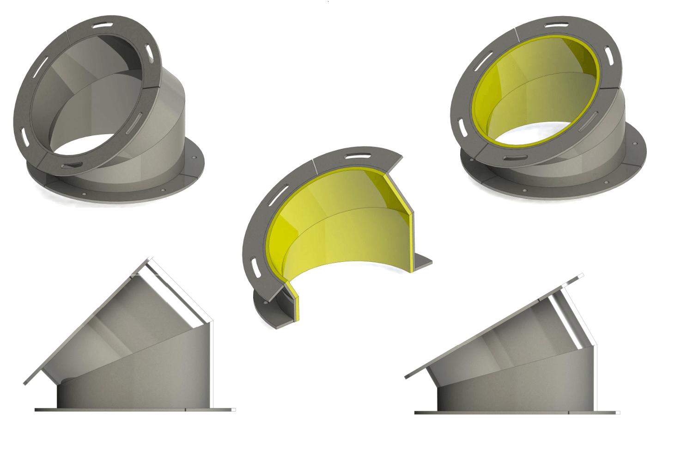 COTURI - tub telescopic - fitinguri - țevi, coturi, teuri, opritoare-4